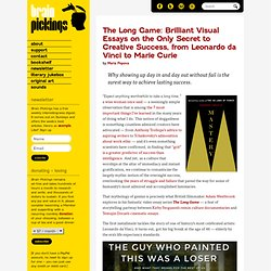 The Long Game: Brilliant Visual Essays on the Only Secret to Creative Success, from Leonardo da Vinci to Marie Curie