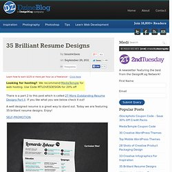 35 Brilliant Resume Designs at DzineBlog.com - Design Blog &Inspira... - StumbleUpon