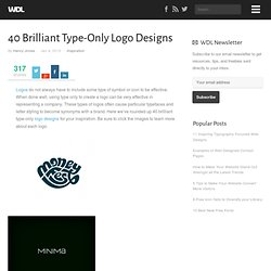 40 Brilliant Type-Only Logo Designs | Web Design Ledger