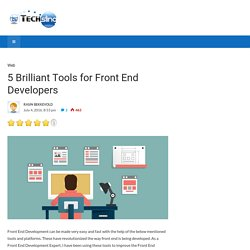 5 Brilliant Tools for Front End Developers