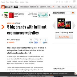 5 big brands with brilliant ecommerce websites