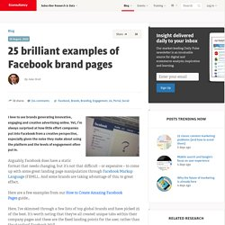 25 brilliant examples of Facebook brand pages