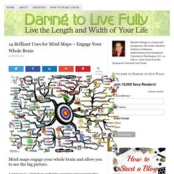 14 Brilliant Uses for Mind Maps - Engage Your Whole Brain - Daring to Live Fully