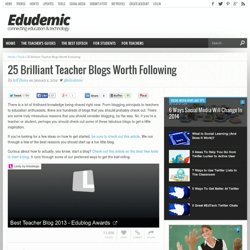 25 Brilliant Teacher Blogs Worth Following