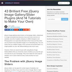 Brilliant Free jQuery Image Gallery/Slider Plugins