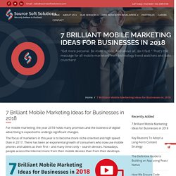 7 Brilliant Mobile Marketing Ideas for Businesses in 2018