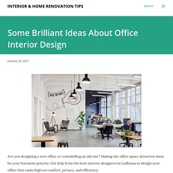 Some Brilliant Ideas About Office Interior Design