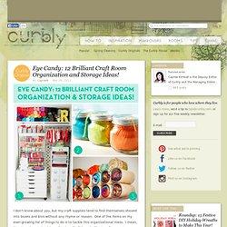 Eye Candy: 12 Brilliant Craft Room Organization and Storage Ideas! » Curbly