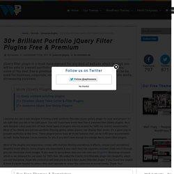30+ Brilliant Portfolio jQuery Filter Plugins Free & Premium - WpFreeware