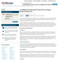 Resource Tools Every Student Must Use