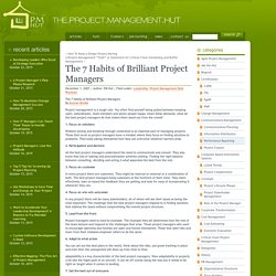 The 7 Habits of Brilliant Project Managers