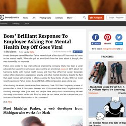 Boss' Brilliant Response To Employee Asking For Mental Health Day Off Goes Viral