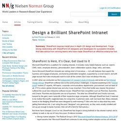 Design a Brilliant SharePoint Intranet