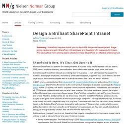 Design a Brilliant SharePoint Intranet