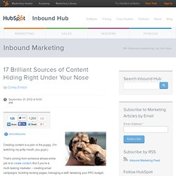 17 Brilliant Sources of Content Hiding Right Under Your Nose