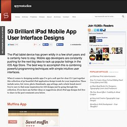 50 Brilliant iPad Mobile App User Interface Designs