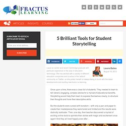 5 Brilliant Tools for Student Storytelling
