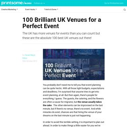100 Brilliant UK Venues for a Perfect Event