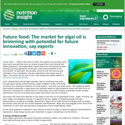 Future food: The market for algal oil is brimming with potential for future innovation, say experts
