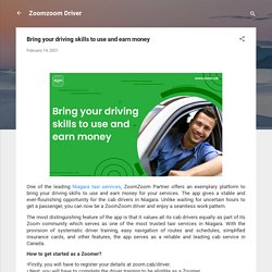 Bring your driving skills to use and earn money