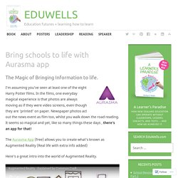 Bring schools to life with Aurasma app – @EDUWELLS