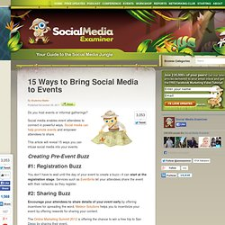 15 Ways to Bring Social Media to Events
