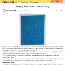 Easy Hand Quilting Templates For Beginners