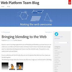 Bringing blending to the Web | Web Platform Team Blog
