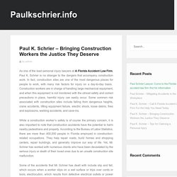 Bringing Construction Workers the Justice They Deserve