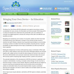 Bringing Your Own Device – In Education