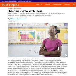 Bringing Joy to Math Class