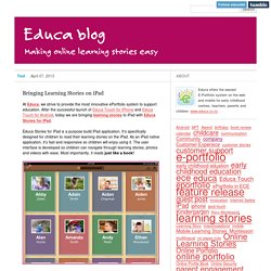 Bringing Learning Stories on iPad