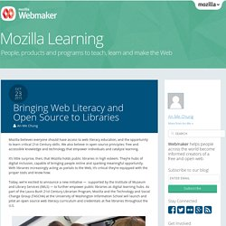 Bringing Web Literacy and Open Source to Libraries