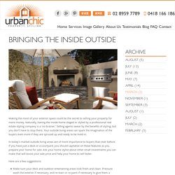 Bringing the Inside Outside - Urbanchic