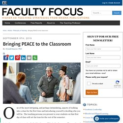 Bringing PEACE to the Classroom