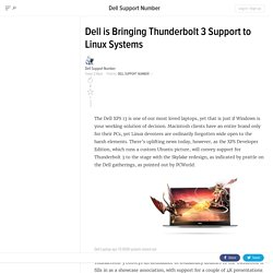 Dell is Bringing Thunderbolt 3 Support to Linux Systems