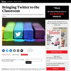 Bringing Twitter to the Classroom