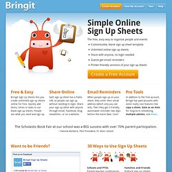 Create sign up sheets online with free, blank templates
