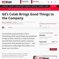 GE's Colab Brings Good Things to the Company