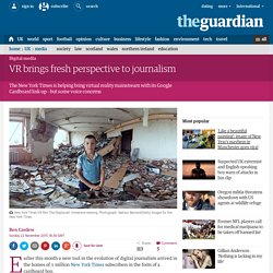 VR brings fresh perspective to journalism