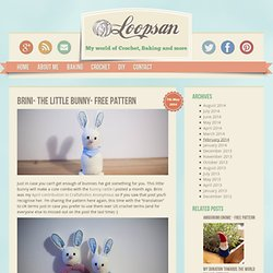 Brini- The little Bunny- Free Pattern