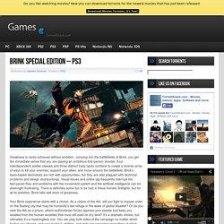 Brink Special Edition - PS3