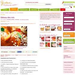 Gâteau des rois (brioche aux fruits confits et à la fleur d'oranger