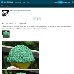 FO: Brioche rib baby hat: advanced_knit