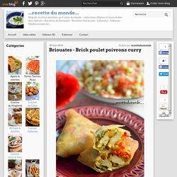 Briouates - Brick poulet poivrons curry - ...recette du monde...