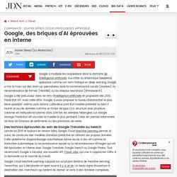 Google, des briques d'AI éprouvées en interne