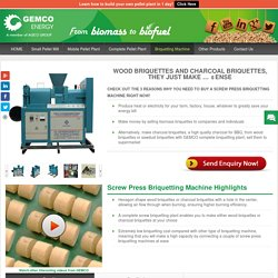 Screw Press Briquetting Machine Helps You Make Quality Charcoal Briquettes And Wood Briquettes