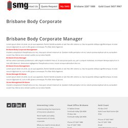 Brisbane Body Corporate