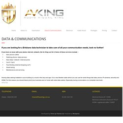 Brisbane Data Technician - THEAVKING