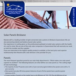 Brisbane's Best Solar Panels